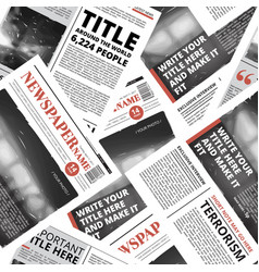 seamless pattern of print newspaper texture vector image vector image