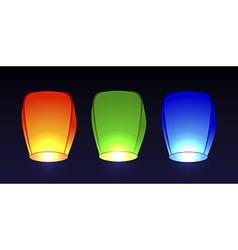 Set air flashlights vector