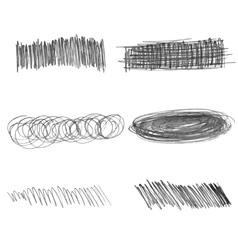 Set of doodle pencil strokes hand drawn vector image vector image