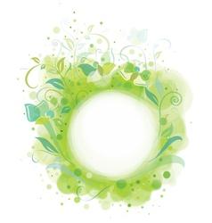 spring frame floral vector image