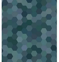 Teal abstract hexagonal honey comb background vector