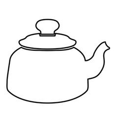 Teapot black color icon vector