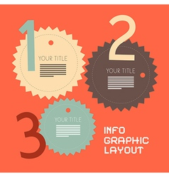 Three Steps Retro Paper Infographics Flat Design vector image vector image