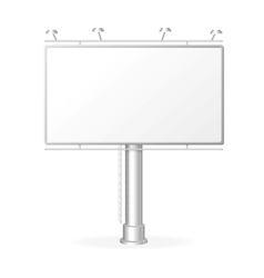White billboard screen template vector