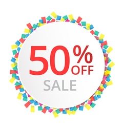 50 sale discount sign vector