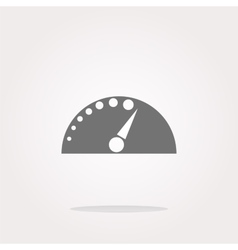Automotive tachometer on web button icon vector