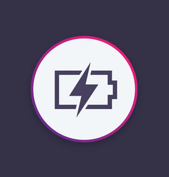 Charging battery icon stylish pictogram vector