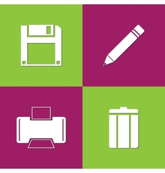 Document icons vector image