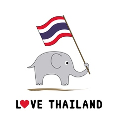 Elephant hold Thai flag4 vector image