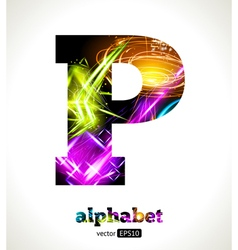 Design Abstract Letter P vector image