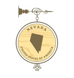 Vintage label nevada vector