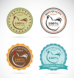 Set of an chicken label vector