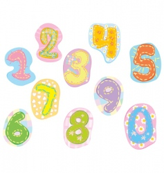 Vector cute numbers vector