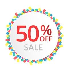 50 sale discount sign vector