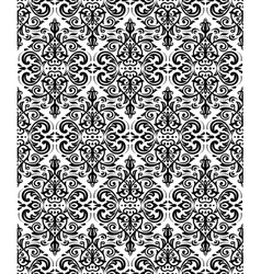 Damask seamless black and white pattern vector