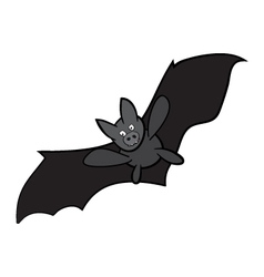 Halloween bat cartoon isolated on white background vector