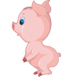 Cartoon piglett vector