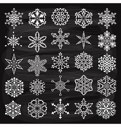 Holiday design elements and snowflakes vector