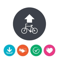 Bicycle path trail sign icon cycle path vector