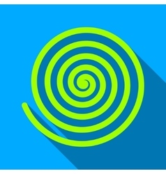 Hypnosis spiral flat long shadow square icon vector