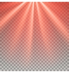Red flare rays vector