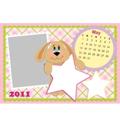 Babys monthly calendar for may 2011s vector