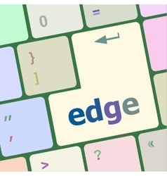 Keyboard key with edge button vector