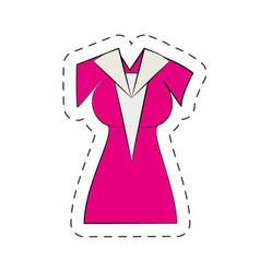 beuty dress cartoon comic vector image