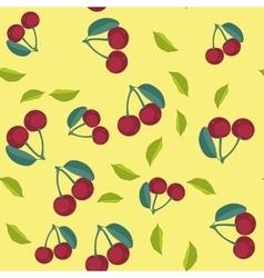 cherry cartoon seamless texture 654 vector image