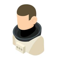 cosmonaut icon isometric 3d style vector image