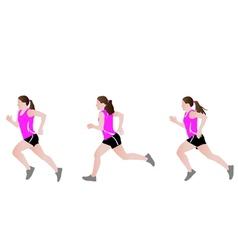 Female runner vector