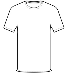 front t-shirt vector image