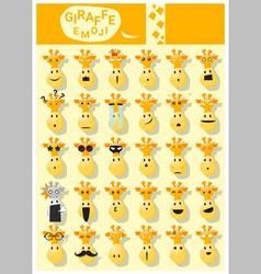 Giraffe emoji icons vector