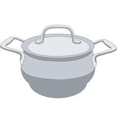 Grey pan 01 vector image vector image