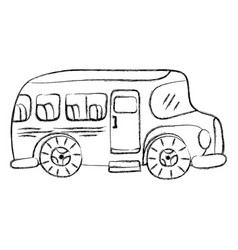grunge vehicle school bus education transportation vector image vector image