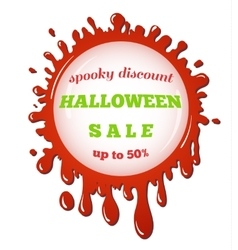 Halloween sale red stain vector