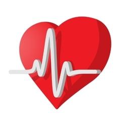 Heartbeat cartoon icon vector