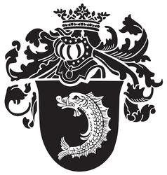 Heraldic silhouette no45 vector