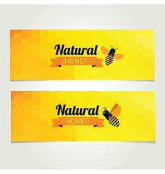 Honey banner Abstract bee design vector image vector image