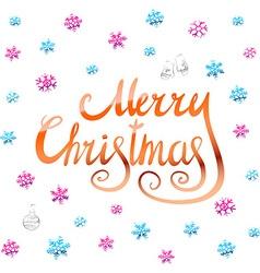 Merry christmas - orange glittering lettering vector