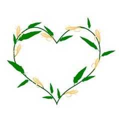 Michelia Alba Flowers in A Heart Shape vector image