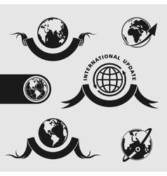 Planet symbol set vector image vector image