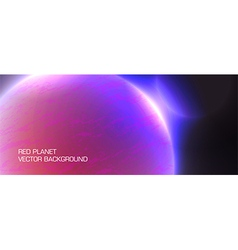 Red planet vector