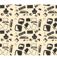 retro computer background pattern vector image