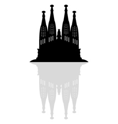 Sagrada Familia in Barcelona vector image