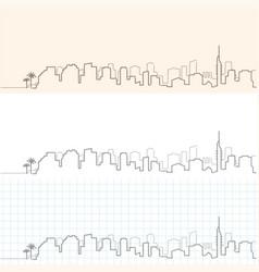 Tel aviv hand drawn skyline vector