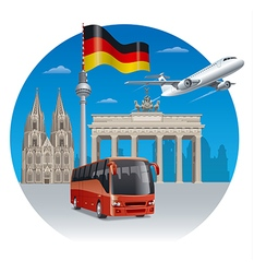 travel in germany vector image