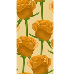 Vertical seamless background with yellow roses vector