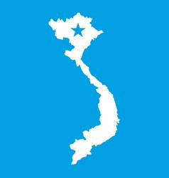 Vietnam map icon white vector