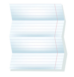 White sheet from a notebook in a line vector